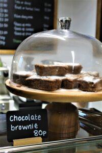 Cafe chocolate brownies