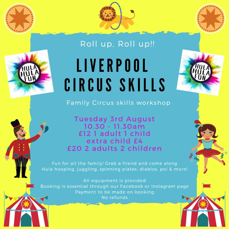 Liverpool Circus Skills Hula Hula Fun